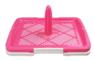 Туалет со столбиком для щенков и собак мелких пород, розовый