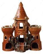 Керамический большой замок с башнями