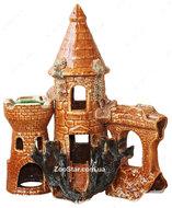 """Керамика декоративная """"Замок большой с башней и гротом"""""""