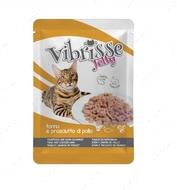 """Консервы для кошек """"Тунец и куриная ветчина в желе"""" серии """"Vibrisse Jelly"""", пауч"""