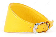 Ошейник без украшений для борзых собак желтый GLAMOUR WAUDOG