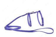 Шлея с поводком для кошек и мелких собак фиолетовая GLAMOUR WAUDOG