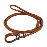 Поводок-удавка круглая для собак коричневая SOFT WAUDOG