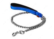 Поводок-цепь с прорезиненной ручкой для мелких пород собак голубой Dog Extreme COLLAR