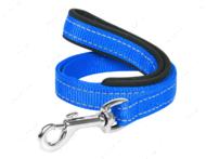 Поводок с прорезиненной ручкой для собак голубой Dog Extreme COLLAR