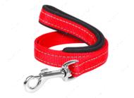 Поводок с прорезиненной ручкой для собак красный Dog Extreme COLLAR