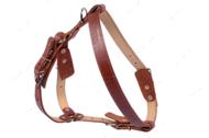 Шлея двойная для крупных пород собак коричневая COLLAR