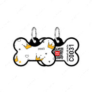 Адресник с QR кодом для кошек и собак кость корона черный Smart Id WAUDOG