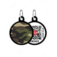 Адресник с QR кодом для кошек и собак круг камо черный Smart Id WAUDOG
