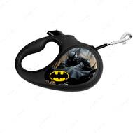 Поводок-рулетка для собак с рисунком Бэтмен Черный WAUDOG