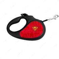 Поводок-рулетка для собак с рисунком Супермен Лого Красный WAUDOG