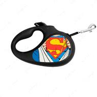 Поводок-рулетка для собак с рисунком Супермен Герой WAUDOG