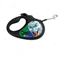 Поводок-рулетка для собак с рисунком Джокер Зеленый WAUDOG