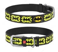 Ошейник для собак с рисунком Бэтмен4 черный Design WAUDOG