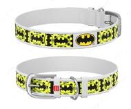 Ошейник для собак с рисунком Бэтмен4 белый Design WAUDOG