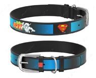 Ошейник для собак с рисунком Супермен2 черный Design WAUDOG