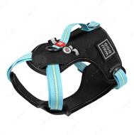 Шлея для собак безопасная голубая Nylon WAUDOG