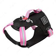 Шлея для собак безопасная розовая Nylon WAUDOG