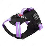 Шлея для собак безопасная фиолетовая Nylon WAUDOG