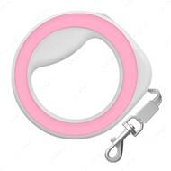 Поводок-рулетка круглая, розовая WAUDOG