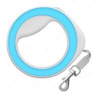 Поводок-рулетка круглая, голубая WAUDOG