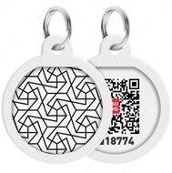Адресник с QR кодом для кошек и собак круг рисунок геометрия WAUDOG Smart Id