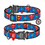 Ошейник для собак с рисунком супермен лого пряжка-фастекс WAUDOG Nylon
