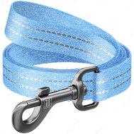 Поводок для собак голубой WAUDOG Re-cotton 2 метра