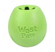 Игрушка для собак мяч с тайником для лакомств зеленая Rumbl Eggplant