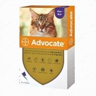 Капли от глистов, блох, клещей для кошек весом от 4 кг до 8 кг Advocate