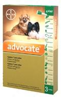 Адвокат Капли от глистов  и блох для собак весом до 4 кг Advocate