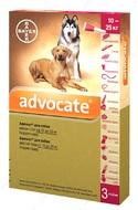 Адвокат Капли от глистов, блох для собак весом от 10 до 25 кг Advocate