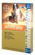 Адвокат Капли  от глистов и блох для собак весом от 25 до 40 кг Advocate