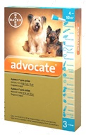 Адвокат Капли от глистов, блох для собак весом от 4 до 10 кг Advocate