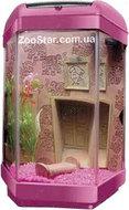 Аквариум Hexa Set II, Andgelika 11л розовый
