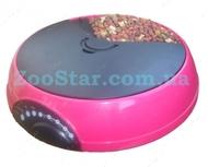 Автоматическая кормушка для кошек и небольших собак на 3 кормления, розовая Pet Mate