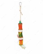 Игрушка для попугаев с кукурузными початками Natural Toy with Sisal Rope