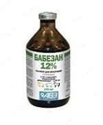 """""""Бабезан"""" раствор для инъекций 12%  для лошадей, крупного рогатого скота, овец  при бабезиозе"""