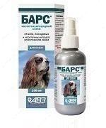 Спрей инсектоакарицидный для собак Барс