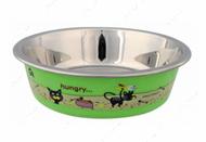 Миска стальная для котов Stainless Steel Bowl with Plastic Coating