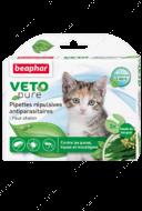 """Капли антипаразитарные для котят от блох,  клещей и комаров """"VETO Pure Bio Spot On"""""""