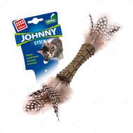 Игрушка для котов с кошачьей мятой и двойным пером BRONZEDOG GIGWI JOHNNY STICK
