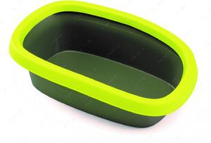 Большой туалет лоток для кошек Sprint 20 салатовый/темно-зеленый
