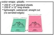 Бумага для папильоток пластиковая, 15х30 см, 50 листов