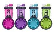 Бутылка двойная для воды со складной миской для собак и кошек H-DuO™ with Companion Cup
