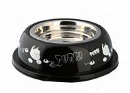 Миска стальная для котов Stainless Steel Bowl with Plastic Holder