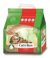 Комкующийся древесный наполнитель Cats Best Oko plus