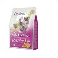 """Сухой корм для длинношерстных котов всех пород с лососем и рисом """"Derma Salmon and Rice"""""""