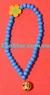 Деревянные Бусы Колье Синие 33 см
