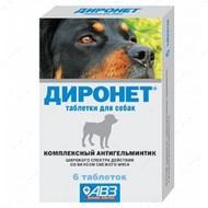 Диронет для собак против глистов